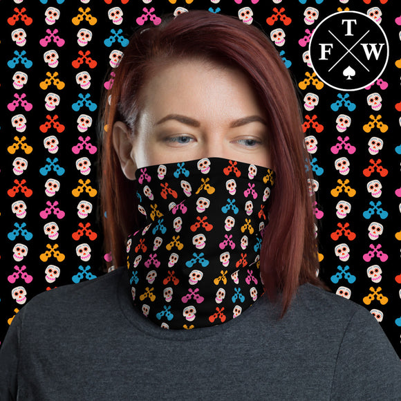 Coco Skulls & Guitar Face Mask / Headband
