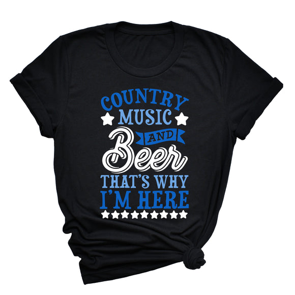 Country Music & Beer Unisex T-Shirt