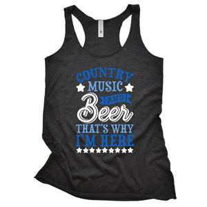 Country Music & Beer Women's Racerback Tank