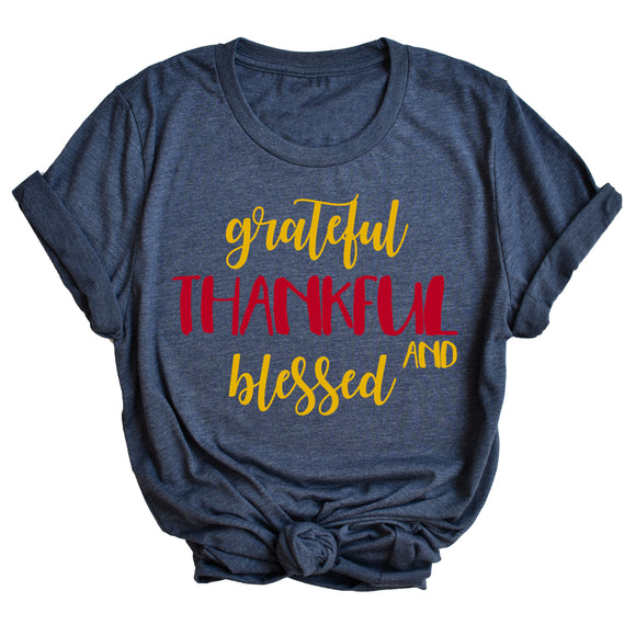 Grateful Thankful and Blessed Unisex T-Shirt