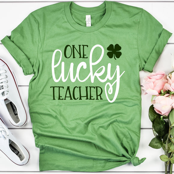 One Lucky Teacher Unisex T-Shirt