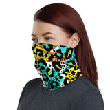 Colorful Leopard Print Face Mask / Headband