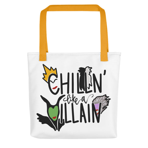 Chillin Like A Villain Tote bag
