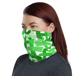 Lime Green Ribbon Face Mask / Headband