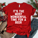 It's The Most Wonderful Time For A Beer Unisex T-Shirt - Flop The World Pop