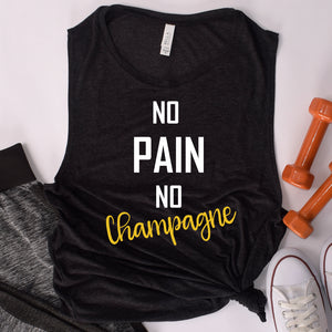 No Pain No Champagne Ladies' Muscle Tank
