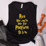Run Like You're Late Ladies' Muscle Tank