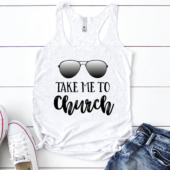 Take Me To Church Women's Racerback Tank