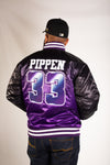 SCOTTIE PIPPEN HIGH SCHOOL BASKETBALL SATIN JACKET