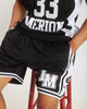 KOBE LOWER MERION HIGH SCHOOL BLACK BASKETBALL SHORTS