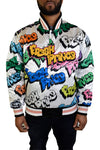 FRESH PRINCE GRAFFITI WHITE SATIN JACKET