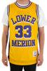 Kobe Bryant Yellow Lower Merion Alternate High School Basketball Jersey - shopallstarsports.com