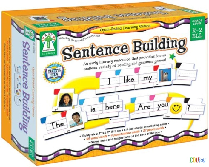 special sentence builder flash cards teach english grammar and