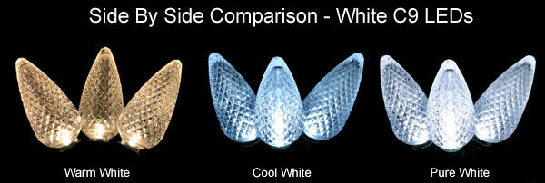 Warm White & Cool White LED Christmas Lights