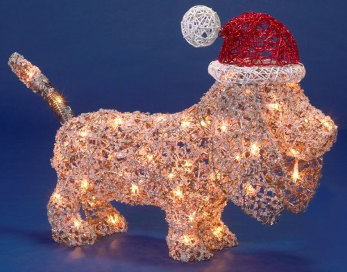 "19"" X 23"" 50 Light Christmas Puppy"