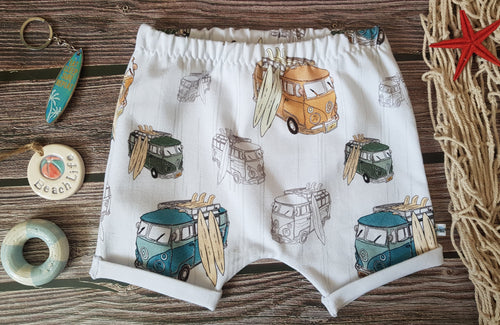 Campervans Turn-Up Shorts