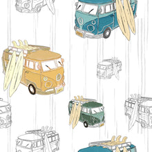 Load image into Gallery viewer, Campervans Turn-Up Shorts