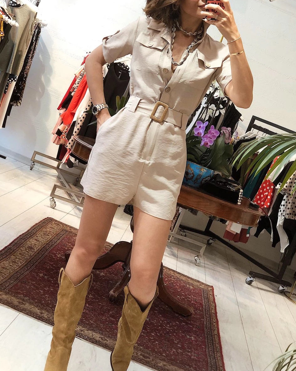Safari Shorts Jumpsuit