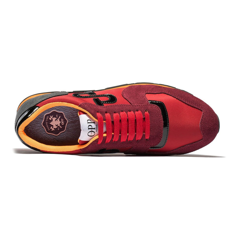 LACE-UP SUEDE SNEAKERS RED - Top Sneakers - OPP Official Store (OPP France 1ae8b0a19