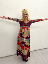 Load image into Gallery viewer, Holt Renfrew 70s psychedelic maxi dress