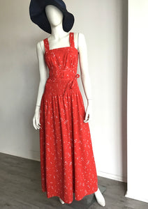 Bill Tice red wrap dress