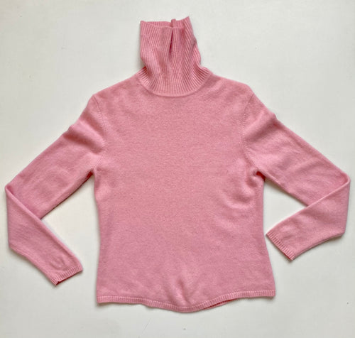 bubblegum pink cashmere turtleneck