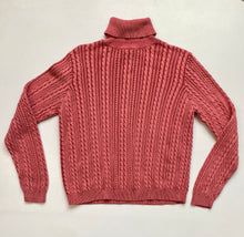 Load image into Gallery viewer, Cable knit turtleneck dusty pink