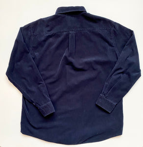 Fine wale navy cord shirt