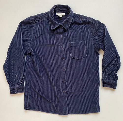Navy wide wale corduroy  shirt