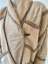 Load image into Gallery viewer, Norma Canada knits long wool and suede coat