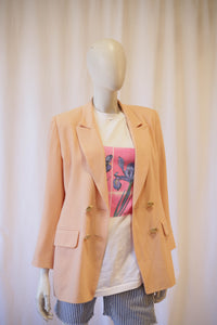 90s Peach blazer made in France,