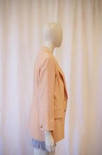 Load image into Gallery viewer, 90s Peach blazer made in France,
