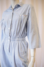 Load image into Gallery viewer, Light Blue Chambray 80s Jumpsuit by ideas