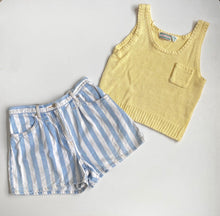Load image into Gallery viewer, Pale yellow cotton knit tank