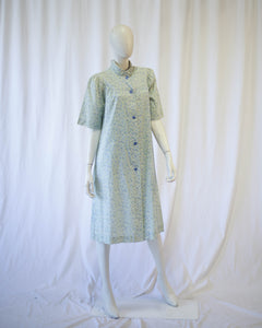Forget me not 1930s/40s smock housedress