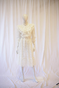 70s lace angel dress
