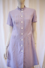 Load image into Gallery viewer, 60s lavender coat dress/ shift