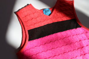 Christian Lacroix coral & fuchsia wool sweater vest
