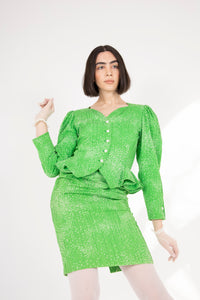 Ungaro lime skirt suit
