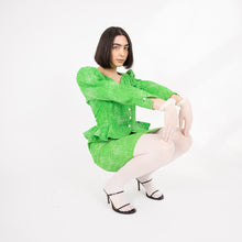 Load image into Gallery viewer, Ungaro lime skirt suit