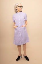 Load image into Gallery viewer, Lavender dotted 60s coatdress