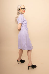60s lavender coat dress/ shift