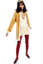 Load image into Gallery viewer, Bonnie Cashin for Sils 1960s contrast leather kiss lock  coat