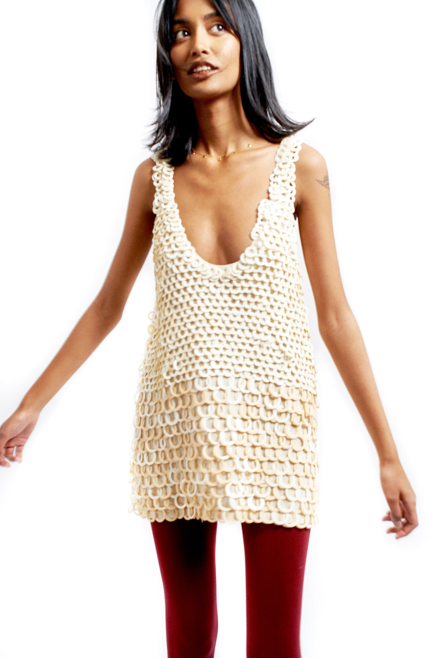 Circle paillette tank/mini dress
