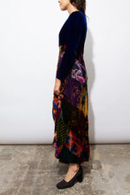 Load image into Gallery viewer, 70s deluxe velvet patchwork gown