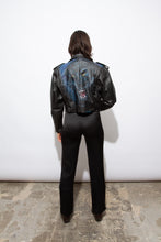 Load image into Gallery viewer, Panther airbrush leather moto jacket