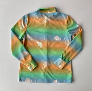 70s pastel rainbow 2pc-set