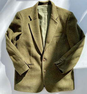 Sisley heather green wool blazer