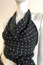 Load image into Gallery viewer, MAX MARA black silk polka two piece set