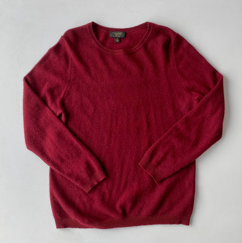 Burgundy cashmere sweater